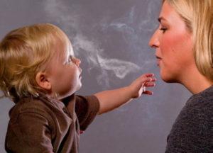Курение мамы при ГВ