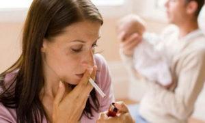 Кормящая мама и курение