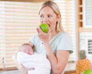 Яблоки при лактации